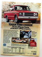 Ford Courier Pickup  Magazine Print Ad 1980