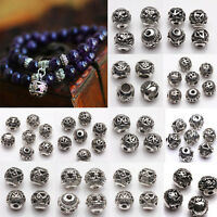 10/20Pcs Tibetan Silver Charms Loose Spacer Beads Wholesale Jewelry Making Craft