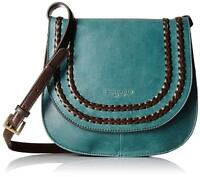 NWT Tignanello Classic Boho Saddle Bag, Juniper/Dark Brown Color MSRP: $149.00