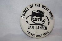 Vintage St. Paul Minnesota 1975 Winter Carnival Button Prince West Wind Jansen