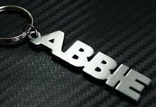Abbie nom personnalisé Porte-clé Porte-clé sur-mesure ACIER INOXYDABLE CADEAU