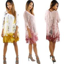 Long Sleeve 100% Silk Tunic Tops & Blouses for Women