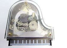 Vtg Schmid Music Box Sankyo Lucite Piano Happy Anniversary,As Time Goes By,VIDEO