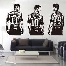 Football Player Messi Neymar Suarez Wall Art Stickers Kids Room Sports Decal