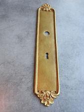 ANCIENNE PLAQUE DE PROPRETE DE PORTE BRONZE N° 372 CLEAN PLATE OLD DOOR SERRURE