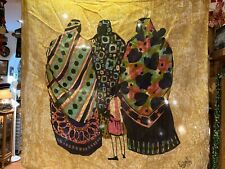 """Signed Robin Anderson limited ed. Silk Handmade in Nairobi 32""""X31"""" only 100 made"""