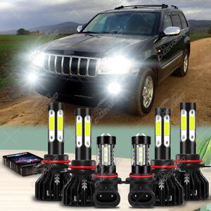 Para For Jeep Grand Cherokee 2005 2006-2010 Faros LED Hi / Lo + Luz antiniebla