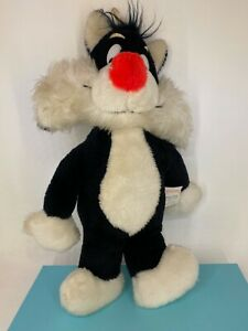 Vintage Mighty Star / Warner Bros - 1971 - Sylvester the Cat -  Soft Toy Plush