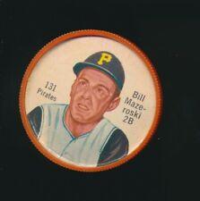 1962 Shirriff Canadian Plastic Coin Baseball RARE #131 Bill Mazeroski Pirates