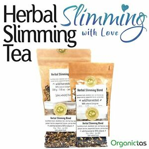 Herbal SLIMMING TEA, 6 Herbs for Weight Loss, Metabolism, Detox, Fat Burn Aid