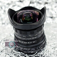 Mivse 7.5mm f2.8 Aspherical Super Wide Angle Fisheye Lens for Sony NEX E 8mm