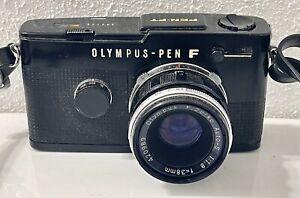 Olympus Pen FT Film Photo Camera w/ Zuiko f1.8 38mm & f3.5 50-90mm Zoom Lenses