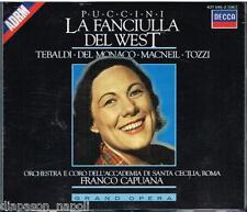 Puccini: La Fanciulla Del West / Capuana, Tebaldi, Del Monaco, MacNeil, Tozzi CD
