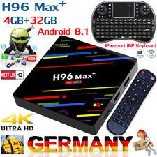 Android 8.1 H96 Max Plus+ 4GB+32GB Smart TV Box Quad-Core DDR3 H.265 4K&Keyboard