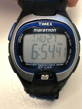 Working Men's Black Timex Marathon Digital Sports Watch BT