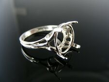 5633 RING SETTING STERLING SILVER 12MM ROUND GEM RING SIZE 6.75
