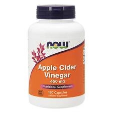NOW FOODS Apple Cider Vinegar 450 mg 180 Capsule Aceto di Mele - VITAMINE