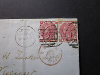 Great Britain SG# 103 Pair Plate 3 On Letter Cover to USA (Maine) - Z7528