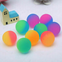 10pcs 30mm Pro Colorful Bouncy Jet Balls Birthday Party Filler Loot Bag Fun G7V4