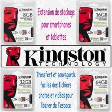 Clé Flash OTG Kingston pour Smartphones & tablettes - Dispo en 8 16 32 64 Go Gb