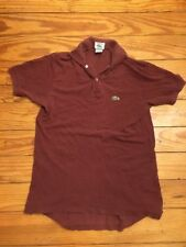 Vintage IZOD Lacoste 🐊 1/2 Patron Men's Polo Shirt M Medium Maroon USA Made