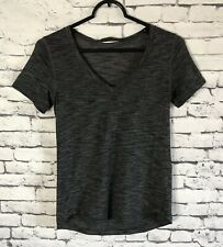 Lululemon What The Sport Tee Heathered Black Size Approx 4