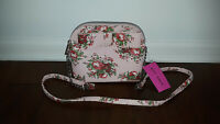 NWT Betsey Johnson Pink Bow Dome Crossbody Floral Roses Purse Bag NWT
