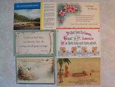 6 Christian Themed Greetings, Scripture On This Postcard Psalm, Proverbs + Lot j