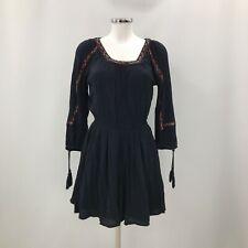 Superdry Dress Womens Size UK XS Navy Blue Boho Casual Everyday Cute 283710