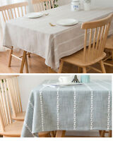 Polyester Table Cloth Nordic Simple Yarn Stripe Table Cover Backdrop