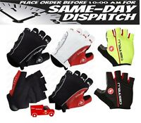 Castelli Rosso Corsa Classic HALF FINGER Gloves Cycling Bicycle gloves