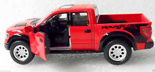 2013 Ford F 150 Raptor SVT Pickup Contractor Work Truck Die cast Action Toy Red