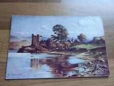 Urquhart Castle Loch Ness Inverness-shire artist Murray Macdonald Postcard