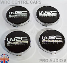 4x WRC nero TAPPI CENTRO RUOTA 60 mm UNIVERSALE AUTO FURGONE WRX STI SEAT VW SKODA-UK