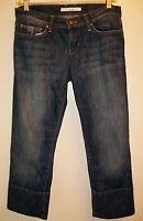 Joe's Jeans Socialite Kicker Capris Sz 27 Stretch Denim Harvey Wash