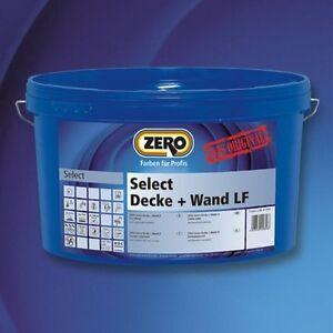 ZERO Select Decke + Wand LF, Innenfarbe, weiß NEU 5 l