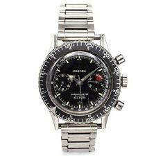 Croton Chronomaster Aviator Sea Diver Chronograph Men's Watch Valjoux 23 38.5 mm