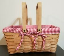 Picnic Basket With Liner Comes With Plasticware