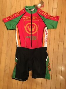 Canari Women's Cycling Tri Skinsuit Size XL NWT Black Multi Color