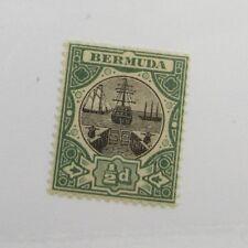Bermuda Scott #28 Victorian ships  mint hinged, just fine + 102 card, superfleas