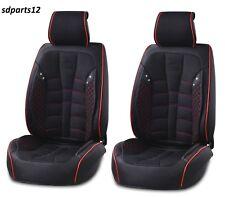 Negro De lujo PU Piel Automóvil Seat Para El Coche Cubre asiento Fiat Volvo