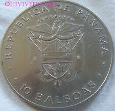 MED5608 - Panama 10 Balboas 1978 Canal Treaty Ratification - NICKEL