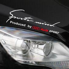 Car Styling Sports Mind Decal Stickers Headlight Car Sticker for Audi SPORT DIY