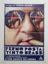 FERMO POSTA erotico Tinto Brass con Cinzia Roccaforte manifesto 1995