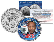 BEN CARSON FOR PRESIDENT 2016 Campaign Colorized JFK Half Dollar U.S. Coin