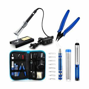 Anbes Soldering Iron Kit, [Upgraded] 60W Adjustable Temperature Welding Tool ...
