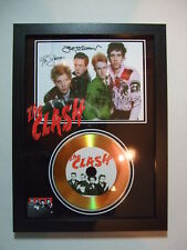 THE CLASH  - SIGNED  - GOLD DISC