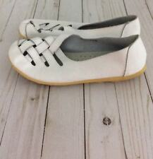 Women's Comfort Lazy Peas White Shoes Sz 41 (US 9.5) Casual Leather Moccasin