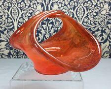 Mid-20th Century Scottish Glass Vasart Posy Holder 'B003' Monart/Ysart Interest
