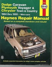 Repair Manual Haynes 30010 for Dodge & Plymouth Mini Vans 84-95 384 Pages